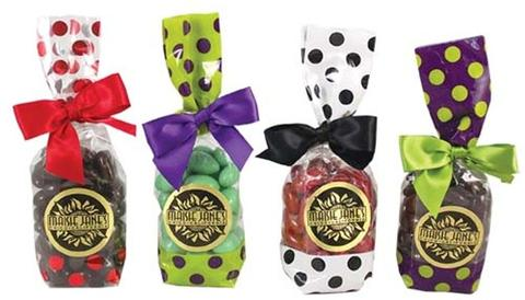 Chocolate Almond Polka Dot Gift Bags