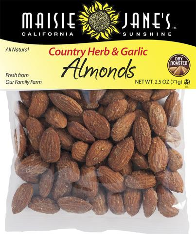 Country Herb and Garlic Almonds