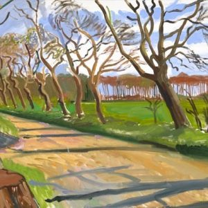 David Hockney painting, East Yorkshire Walnut Trees