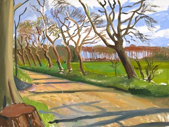 David Hockney, The East Yorkshire Landscape, Walnut Trees, 2006