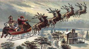 Santa Claus Bringing Gifts