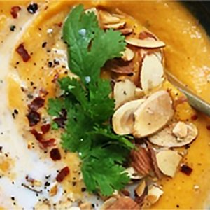 Thai Sweet Potato Soup with Almond Butter