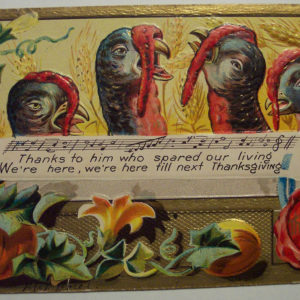 Vintage Vegetarian Thanksgiving Card