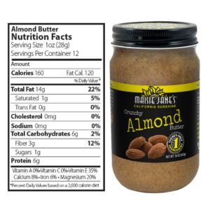 Almond Butter and Nutritional Lable