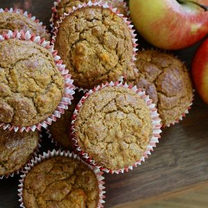 Spiced Apple Nut Muffins