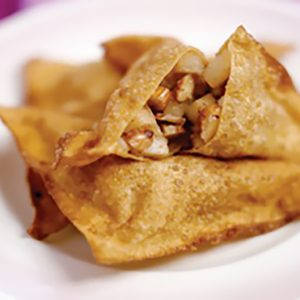 Five Spice Apple and Almond Wontons