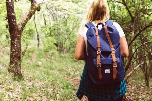 Girl with Backpack in the Summertime