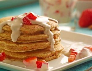 Carrot Cake Almond Pancakes