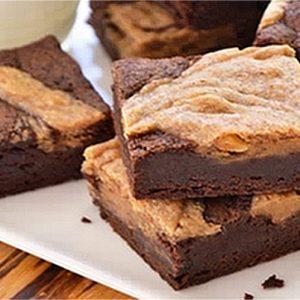 Almond Cheesecake Swirl Brownies