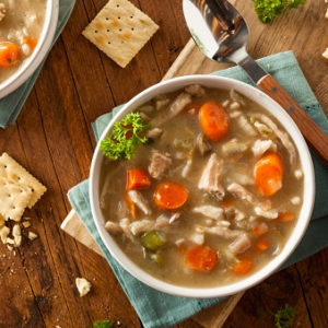 chicken soup with almond butter