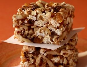 Chocolate Almond Popcorn Squares