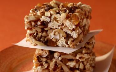Chocolate Almond Popcorn Squares