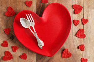 heart shaped dinner plate