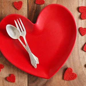 heart shaped dinner plate