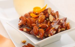 Honey Orange-Glazed Almonds