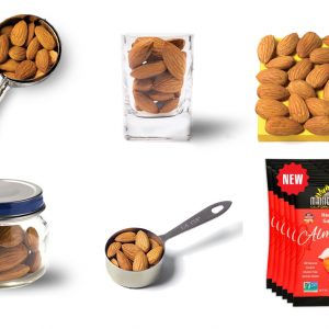 right portion of almonds