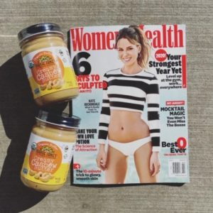 Maisie Jane's Cashew Butter with Women's Health Magazine